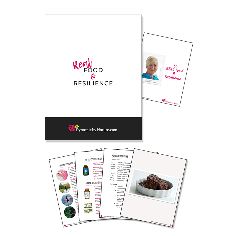 Real Food & Resilience Booklet with cover and select interior pages